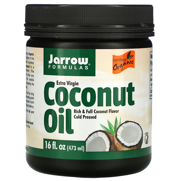 Jarrow Formulas, Extra Virgin Coconut Oil, 16 fl oz (473 g)