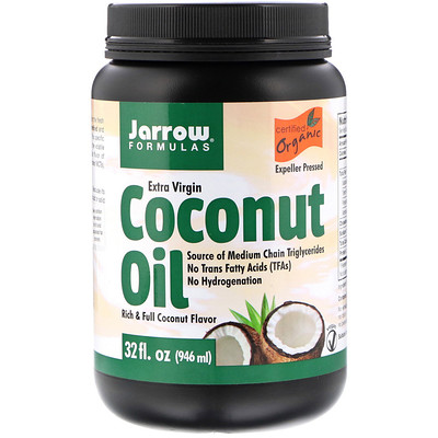 Jarrow Formulas 有機特級初榨椰子油,壓榨,32盎司(946毫升)