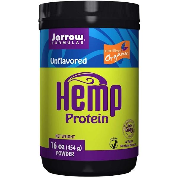 Jarrow Formulas, Hemp Protein Powder, Unflavored, 16 oz (454 g) (Discontinued Item)