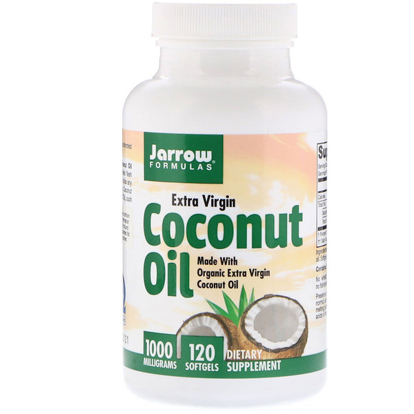 Coconut Oil, Extra Virgin, 1,000 mg, 120 Softgels