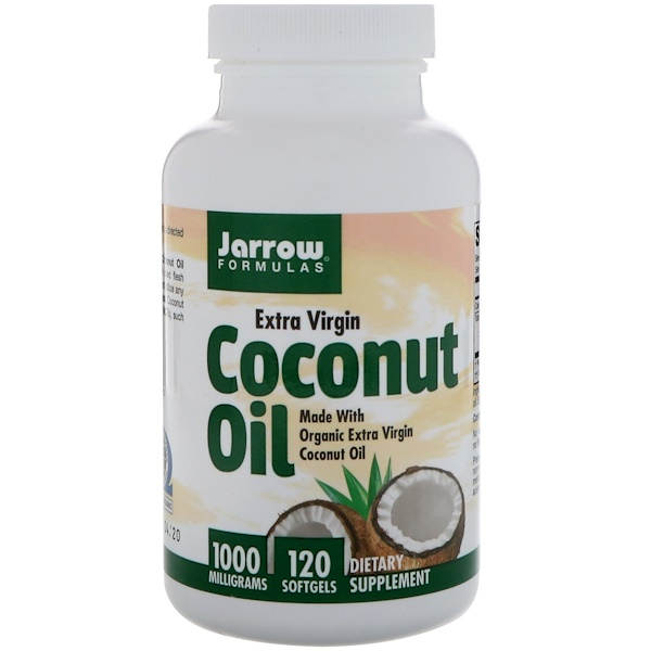 Jarrow Formulas, Coconut Oil, Extra Virgin, 1000 mg, 120 Softgels