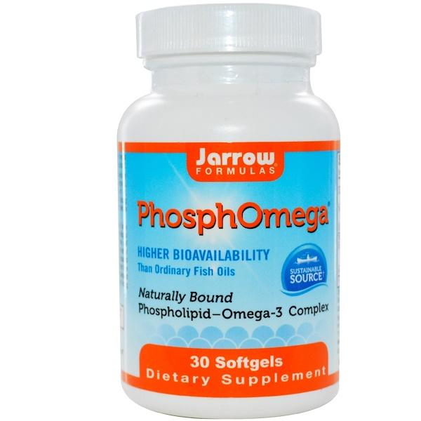 Jarrow Formulas, フォスフォメガ(PhosphOmega)、オメガ-3コンプレックス、30ソフトジェル (Discontinued Item)