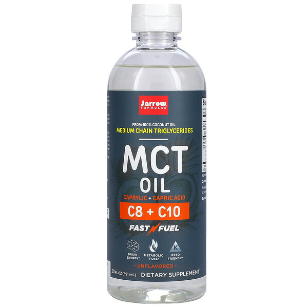 MCT Oil, Unflavored, 20 fl oz (591 ml)