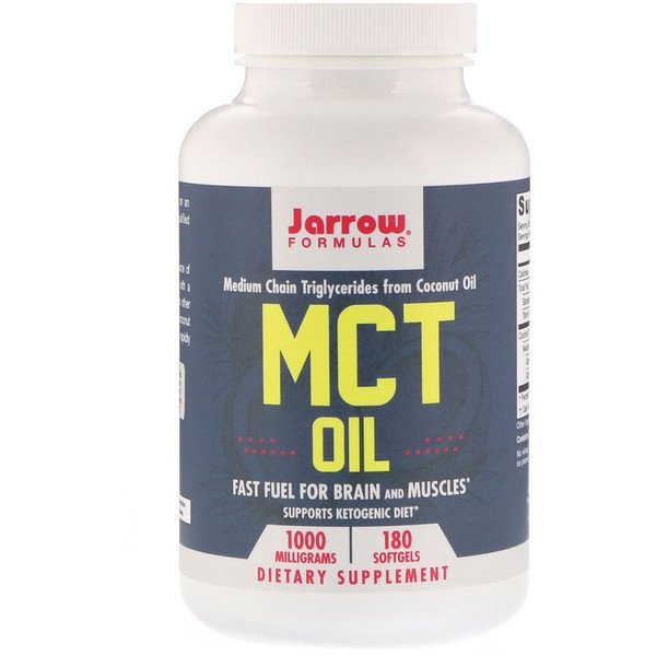 Jarrow Formulas, MCT Oil, 1,000 mg, 180 Softgels