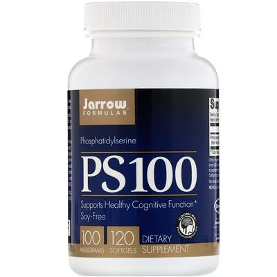 Купить PS 100, фосфатидилсерин, 100 мг, 120 мягких таблеток