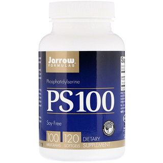 Jarrow Formulas, PS 100, Phosphatidylserine, 100 mg, 120 Softgels