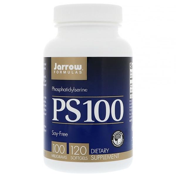 Jarrow Formulas, PS 100,磷脂酰絲氨酸,100毫克,120粒軟膠囊