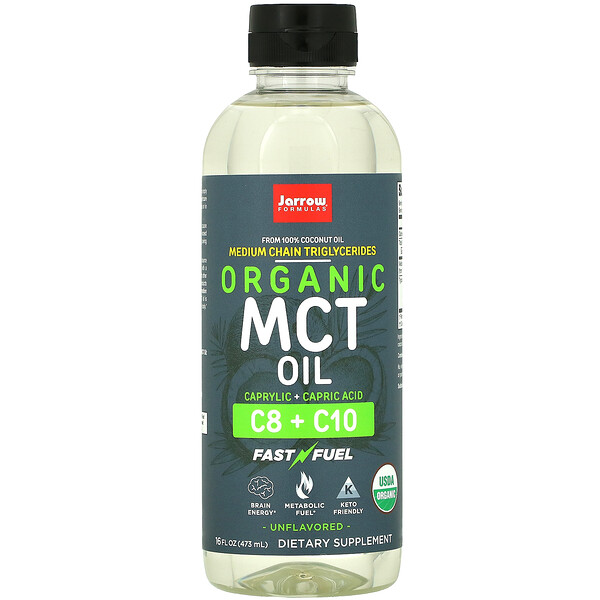 Organic MCT Oil, Unflavored, 16 fl oz (473 ml)
