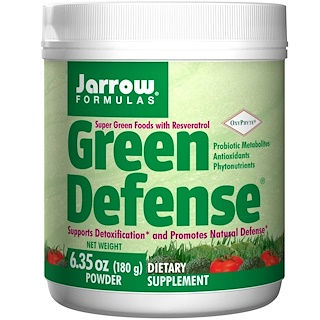 Jarrow Formulas, Defensa verde, 180 g (6,35 oz), en polvo