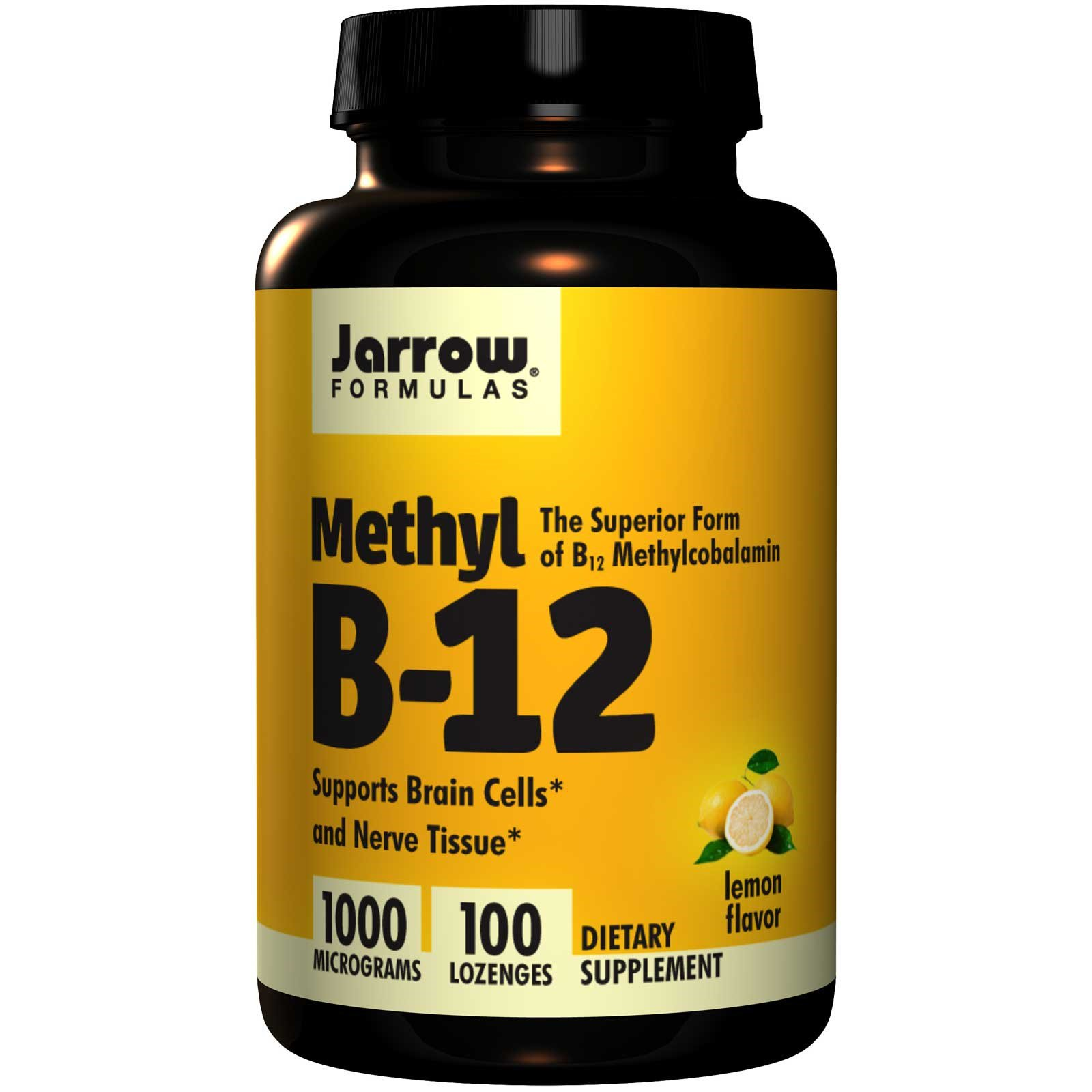 Jarrow Formulas, Methyl B-12, Lemon Flavor, 1000 mcg, 100 Lozenges ...