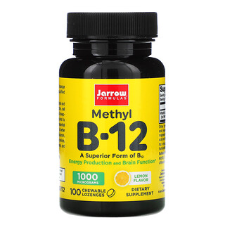Jarrow Formulas, Methyl B-12, Lemon, 1,000 mcg, 100 Chewable Lozenges