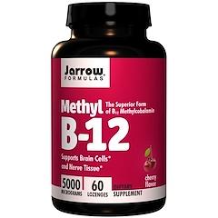Jarrow Formulas, Methyl B-12, Sabor de Cereja, 5000 mcg, 60 Comprimidos