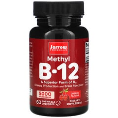 Jarrow Formulas, 甲基 B-12,櫻桃味,5,000 微克,60 塊咀嚼錠劑