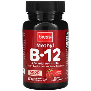 Jarrow Formulas, ميثيل فيتامين ب-12، نكهة الكرز، 5,000 ميكروجرام، 60 قرصًا قابلاً للمضغ