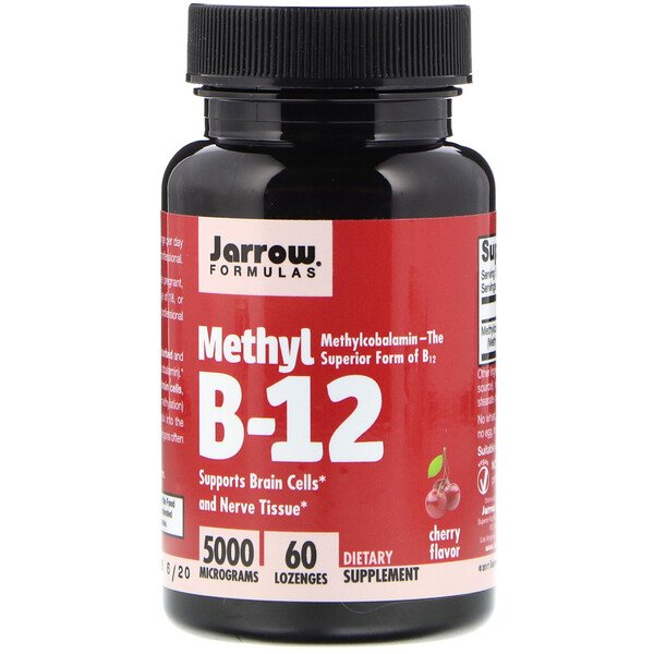Methyl B-12, Cherry Flavor, 5000 mcg, 60 Lozenges