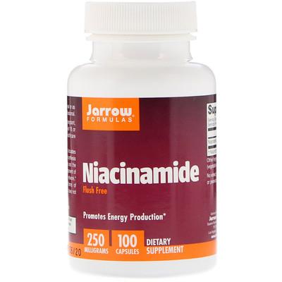 Jarrow Formulas Никотинамид, 250 мг, 100 капсул