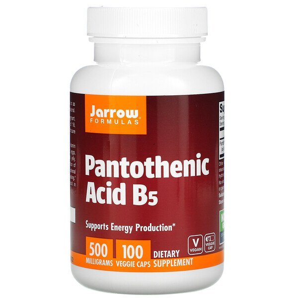 Pantothenic Acid B5, 500 mg, 100 Veggie Caps