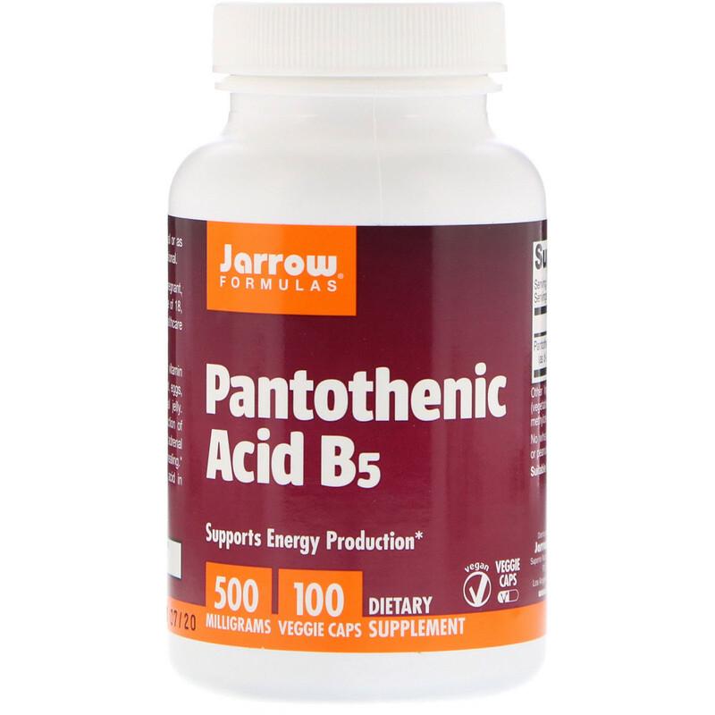 Pantothenic Acid B5, 500 mg, 100 Veggie Caps