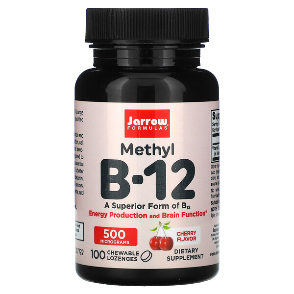 Jarrow Formulas, Methyl B-12, Cherry , 500 mcg, 100 Chewable Lozenges