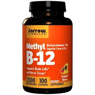 Jarrow Formulas, 메틸 B-12, 트로피컬 맛, 2500 mcg, 캔디 100 개