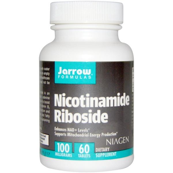 Jarrow Formulas, Nicotinamide Riboside, 100 mg, 60 Tablets (Discontinued Item)