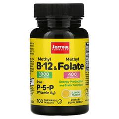 Jarrow Formulas, Methyl B-12 & Methyl Folate, Lemon, 100 Chewable Tablets