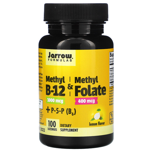 Methyl B-12 & Methyl Folate, Lemon, 100 Lozenges