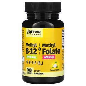 джэрроу формулас, Methyl B-12 & Methyl Folate, Lemon, 100 Lozenges отзывы покупателей