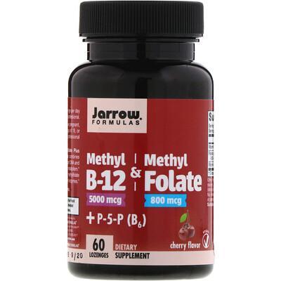 Купить Метил B12 и Метилфолат, Вкус Вишни, 60 леденцов