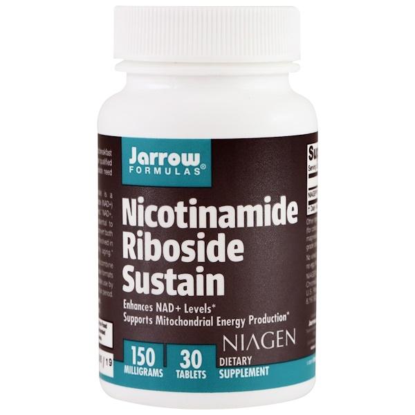 Jarrow Formulas, Nicotinamide Riboside Sustain, 150 mg, 30 Tablets (Discontinued Item)