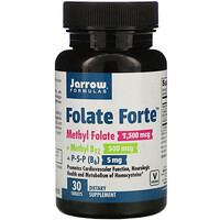 Jarrow Formulas, Folate Forte, Methyl Folate + Methyl B12 + P-5-P,  30 Tablets