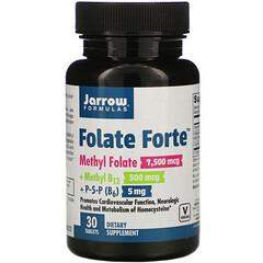 Jarrow Formulas, Folate Forte,甲基葉酸 + 甲基 B12+P-5-P,30 片