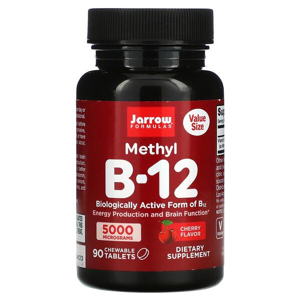 Methyl B-12, Cherry, 5,000 mcg, 90 Chewable Tablets