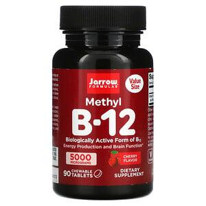 Jarrow Formulas, Methyl B-12, Cherry, 5,000 mcg, 90 Chewable Tablets