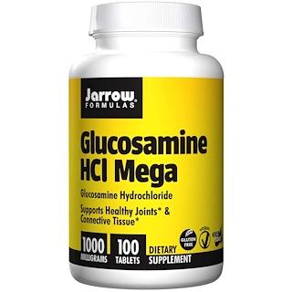 Jarrow Formulas, Glucosamine HCL Mega, 1000 mg, 100 Tablets
