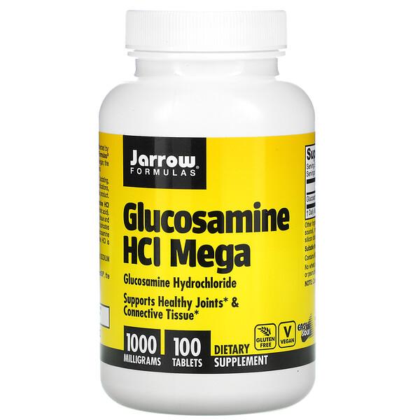 Jarrow Formulas, Glucosamine HCI Mega, 1,000 mg, 100 Tablets