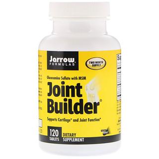 Jarrow Formulas, Construtor de Juntas, Glucosamina Sulfato com MSM, 120 tabletes