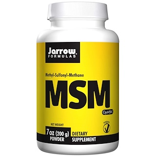Jarrow Formulas, MSM, Methyl-Sulfonyl-Methane, Powder, 7 oz (200 g)