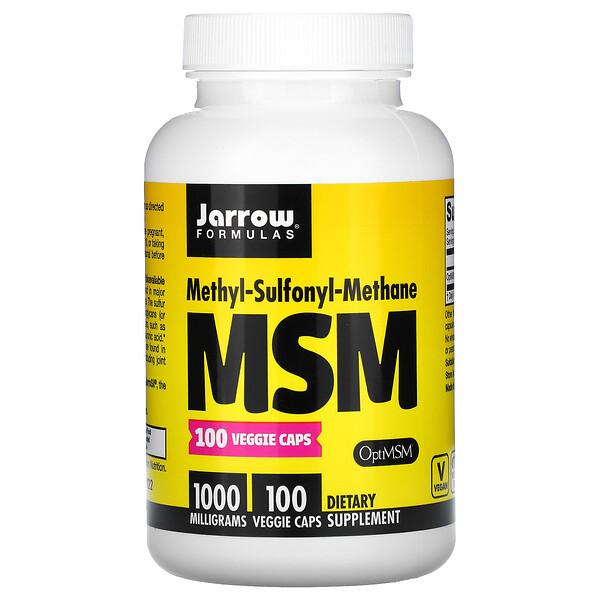Jarrow Formulas, МСМ, 1000 мг, 100 растительных капсул