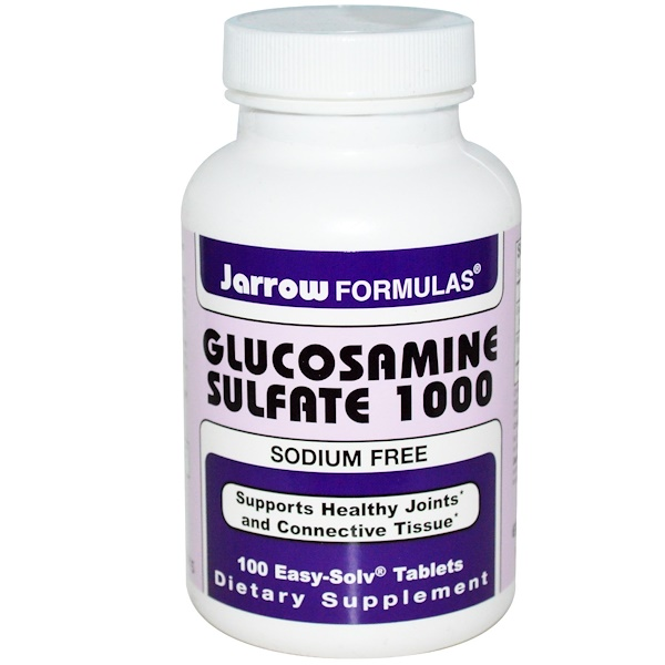 Jarrow Formulas, Glucosamine Sulfate 1000, Sodium Free, 100 Easy-Solv Tablets (Discontinued Item)