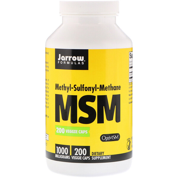 Jarrow Formulas, MSM、1,000 mg、ベジカプセル200錠