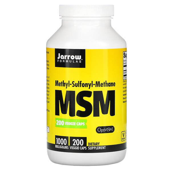 MSM, 1.000 mg, 200 cápsulas veganas