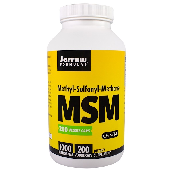 Jarrow Formulas, МСМ, 1000 мг, 200 капсул в растительной оболочке