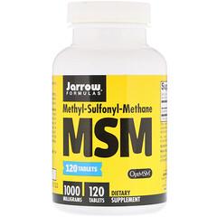 Jarrow Formulas, MSM , Methyl-Sulfonyl-Methane, 1000 mg, 120 Easy-Solv 타블릿