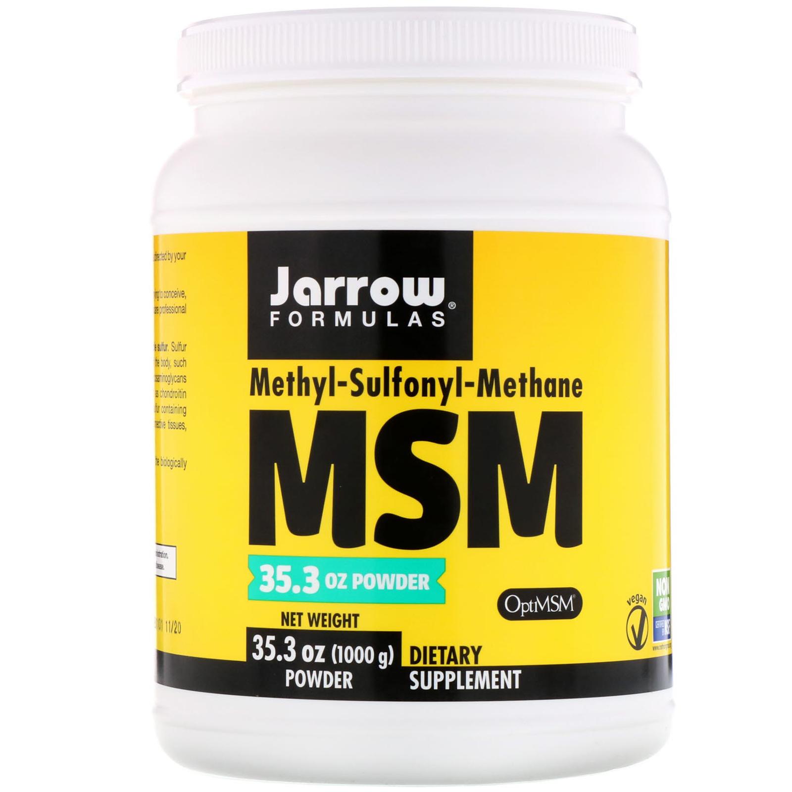 Jarrow Formulas, MSM Powder, 2 2 lbs (1000 g) - iHerb com