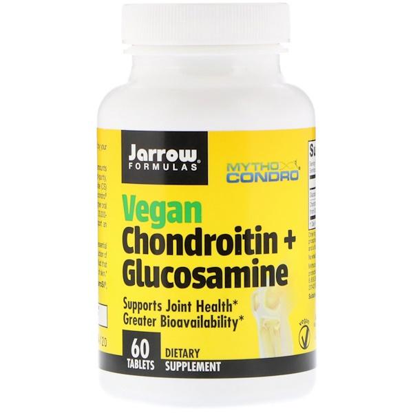 Jarrow Formulas, Vegan Chondroitin + Glucosamine, 60 Tablets (Discontinued Item)