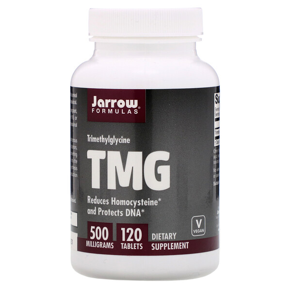 Jarrow Formulas, TMG, Trimetilglicina, 500 mg, 120 Tabletas