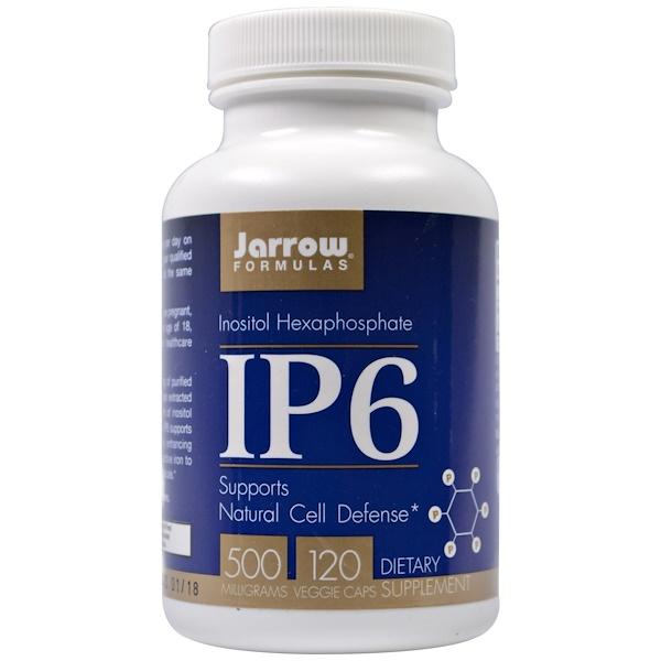 Jarrow Formulas, IP6, hexafosfato de inositol, 500 mg, 120 cápsulas vegetales