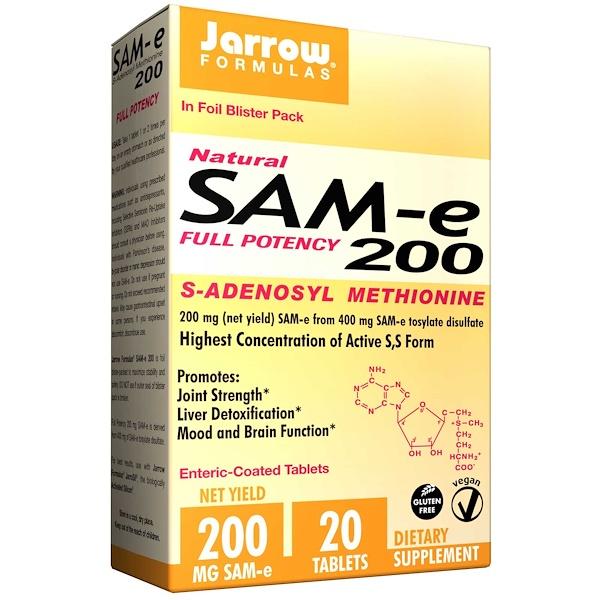 Jarrow Formulas, S腺苷蛋氨酸, 200毫克,20腸溶片