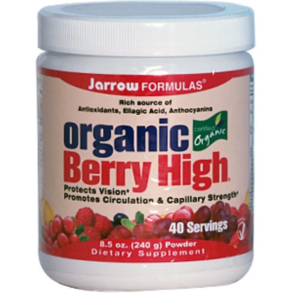 Jarrow Formulas, Organic Berry High Powder, 8.5 oz (240 g) (Discontinued Item)